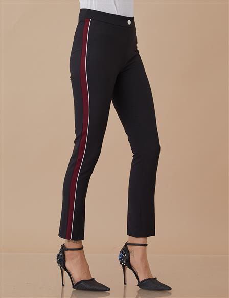 Striped Pants Black A8 19098