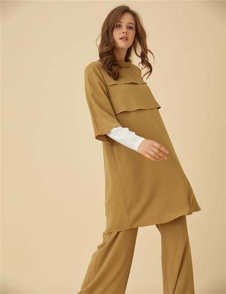 Detailed Suit B9-16012 Olive