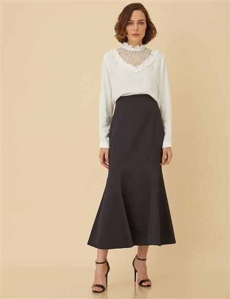 Slim Cut Skirt B9-12026 Black