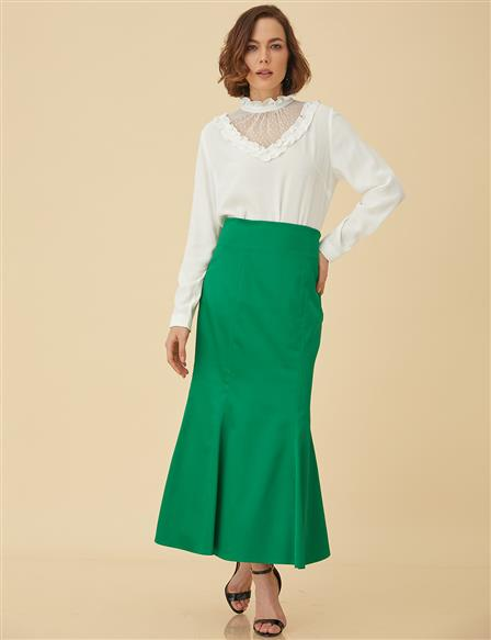 Slim Cut Skirt B9-12026 Green