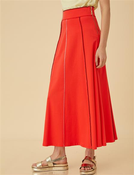 Flared Skirt B9-12014 Red