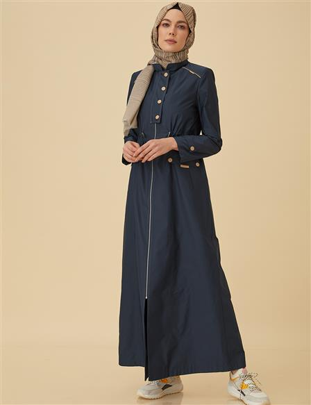 Casual Overcoat B9-15037 Navy
