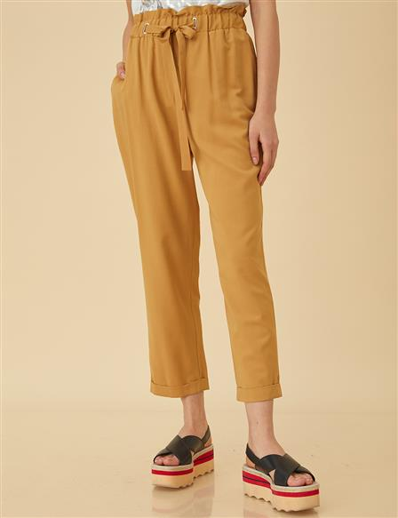KYR Wide Leg Basic Pants B9-79004 Saffron