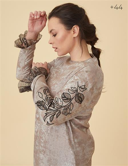 Lace Detailed Tunic B9-21238 Silver