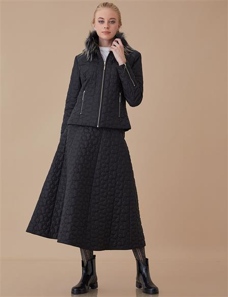 Furry Jacket A8-13018 Black