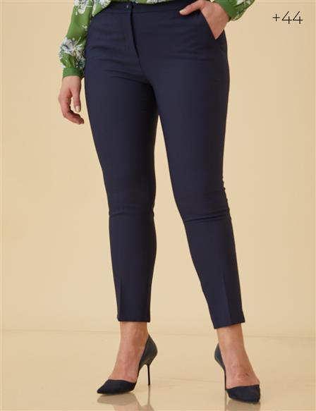 Skinny Leg Trousers B9-19093 Navy