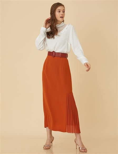 Pencil Skirt With Pleat B9-12012 Tile