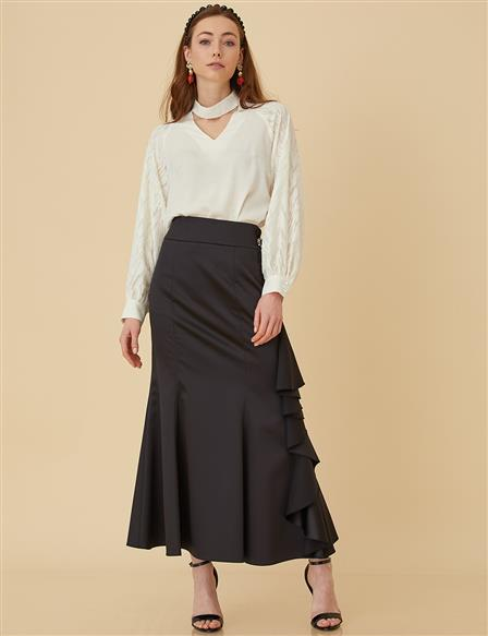 Skirt With Bead B9-12042 Black