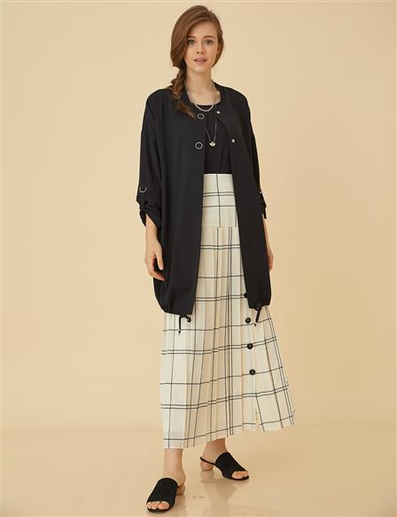 Pleated Skirt B9-12040 Ecru