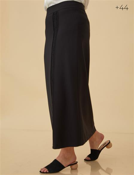 Oversize Pencil Skirt B9-12027 Black