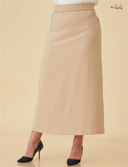 Pencil Skirt B9-12034 Beige