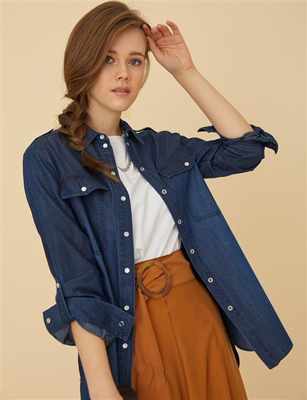 Denim Shirt B9-11025 İndigo