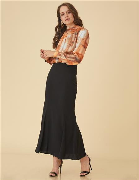 Slim Cut Skirt B9-12046 Black