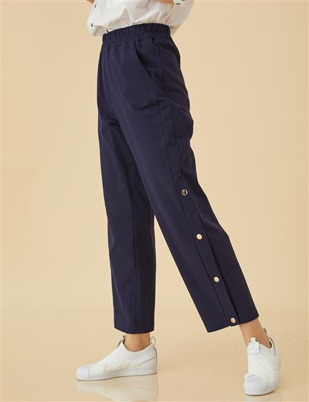 Pants with Snaps B9-19089 Navy