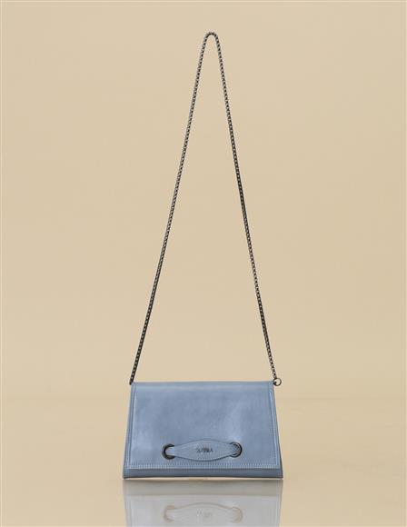 Artificial Leather Clutch B9-CNT08 Blue