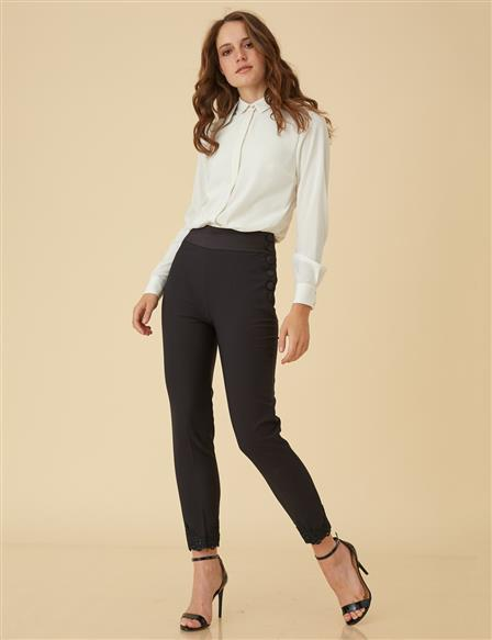 High-Waisted Pants B9-19127 Black