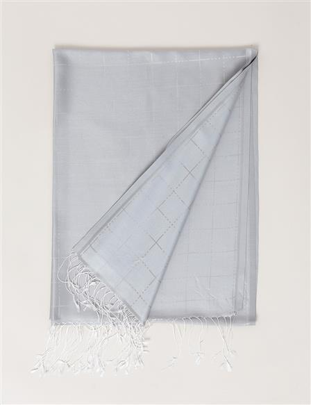 Silk Shawl B7 SAL05 Light Grey