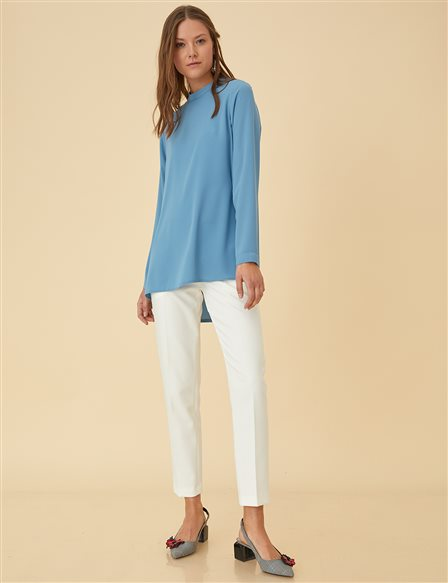 Basic Blouse SZ-10500 Blue