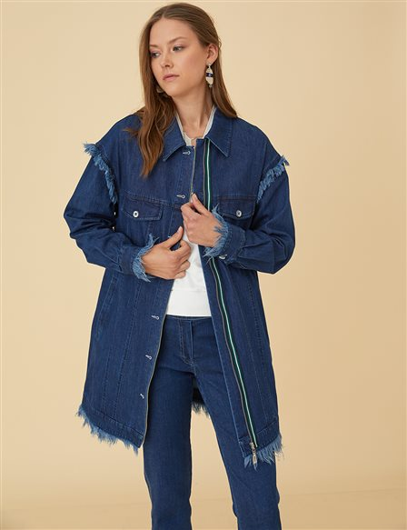 Denim Jacket B9-13018 Navy