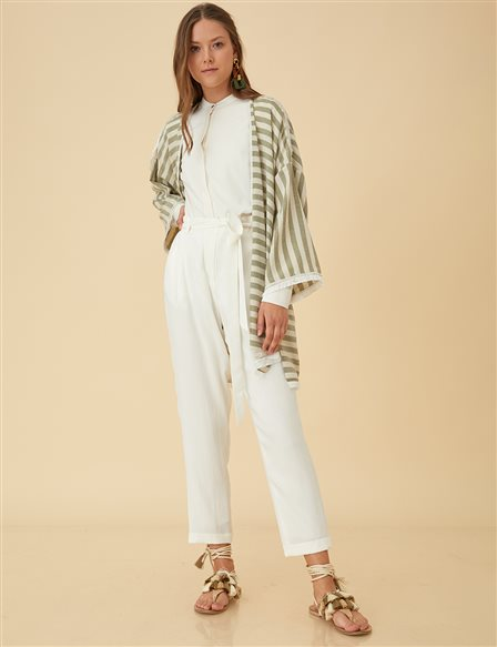 Carrot Pants B9-19144 White