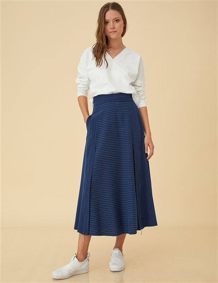 High Waist Skirt B9-12058 Navy