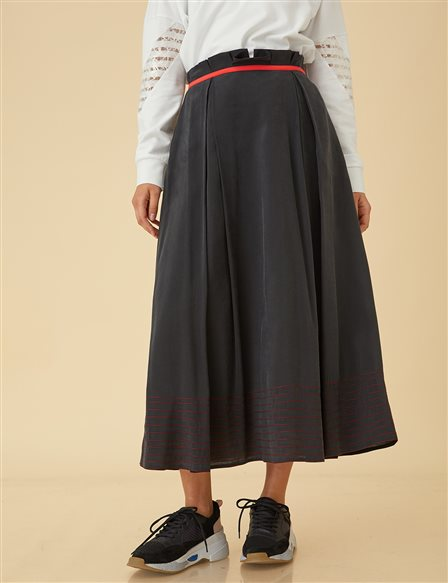 High Waist Skirt B9-12080 Black