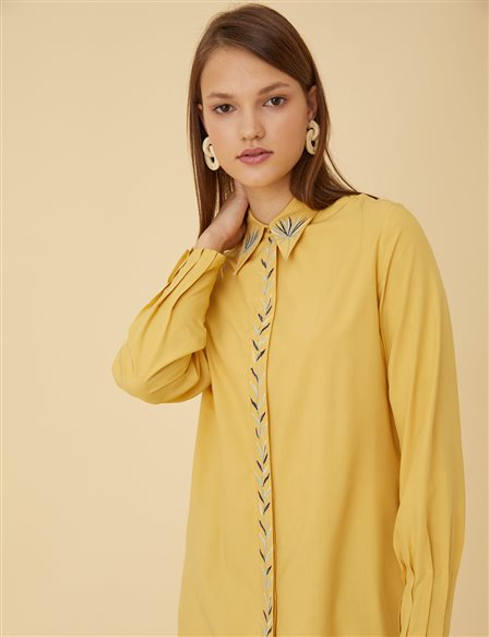 Shirt with Embellishments B9-11033 Saffron