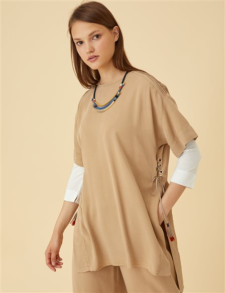 Suit With Necklace B9-16035 Beige