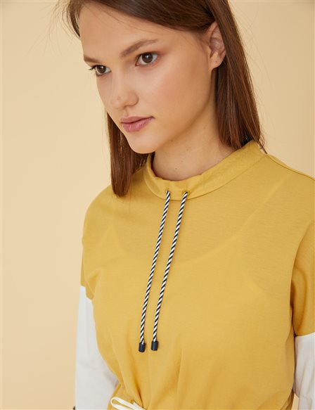 Ruched Tunic B9-21245 Yellow