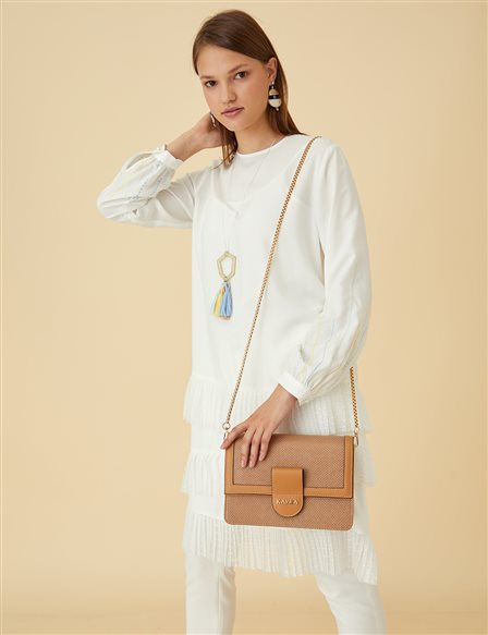 Pleated Tunic B9-21381 Ecru