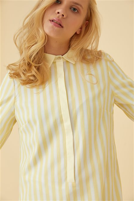 Striped Tunic B9 21419 Yellow