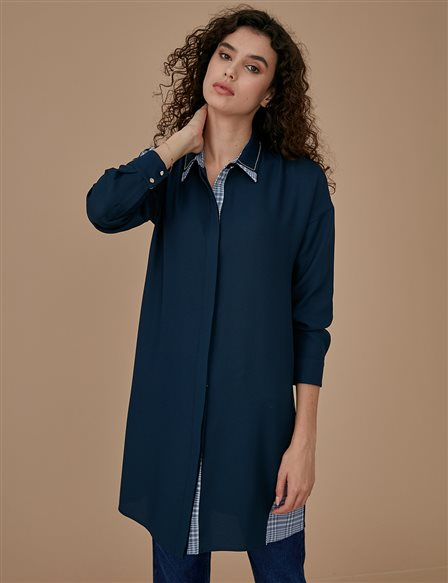 Collar Detailed Tunic A9 21130 Navy