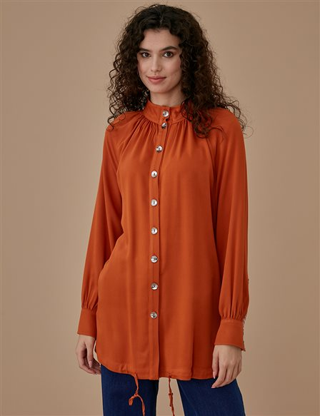 Button Detailed Tunic A9 21154 Tile