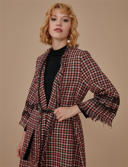 Patterned Tweed Jacket A9 25033 Tile