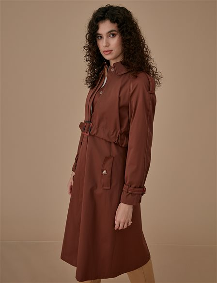Trenchcoat With Belt A9 14029 Cinnamon