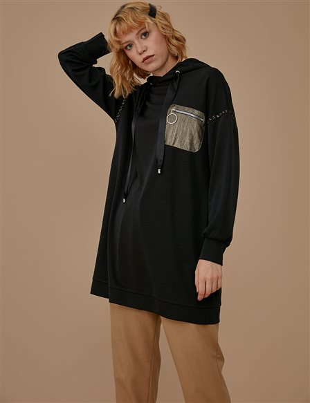 Tunic With Hood A9 21026 Black