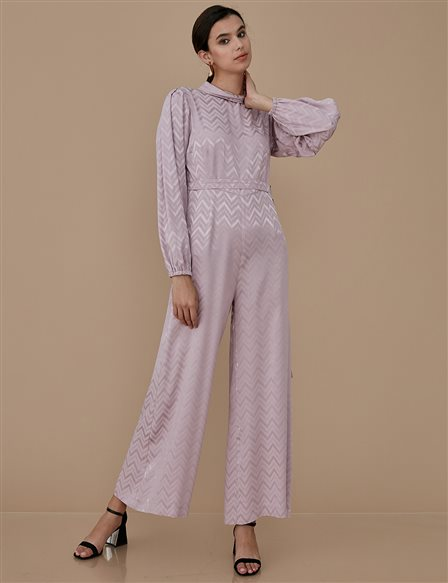 Patterned Jumpsuit A9 22003 Powder