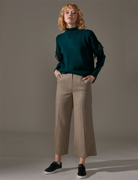 KYR Wide Leg Pants A9 79011 Green