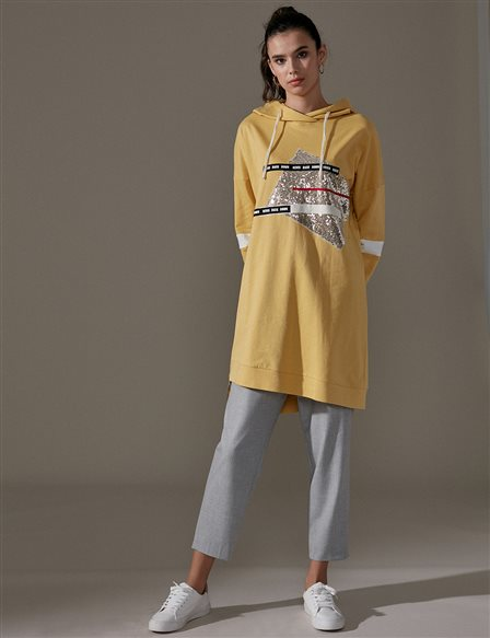 KYR Printed Sweatshirt A9 81022 Yellow