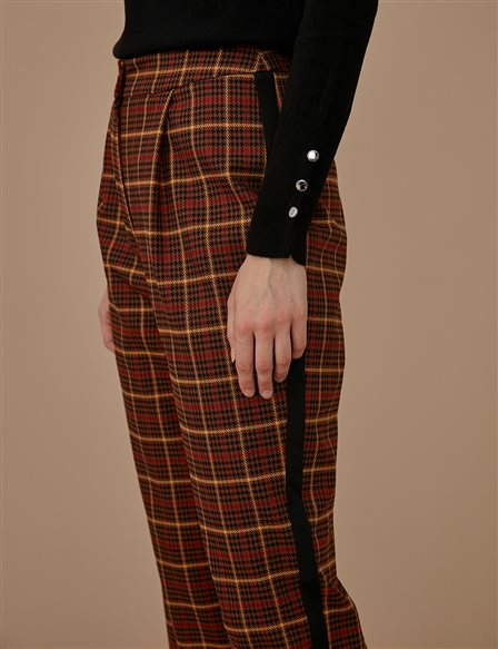 Checkered Pants A9 19090 Brown