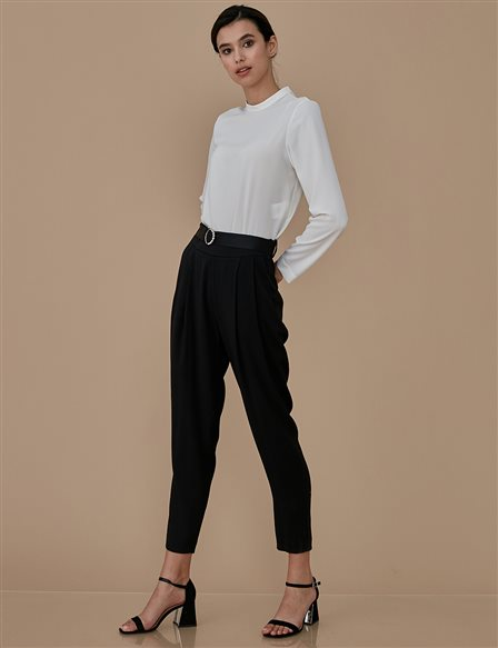 Sateen Pants A9 19076 Black