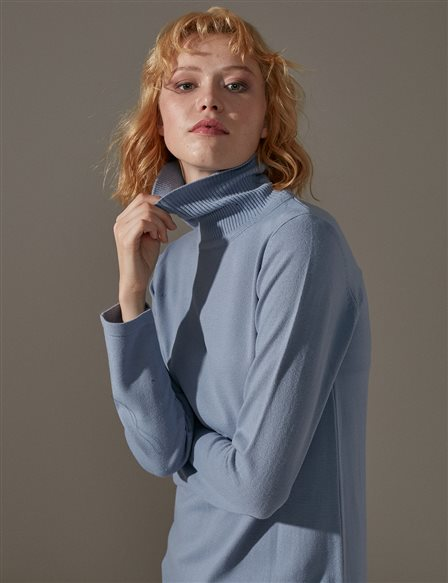 Knitwear Basic Tunic A9 TRK40 Blue