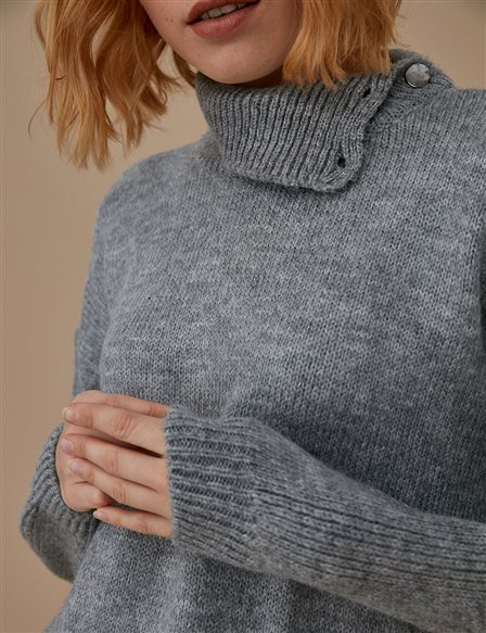 Knitwear Jumper With Sequin A9 TRK31 Grey