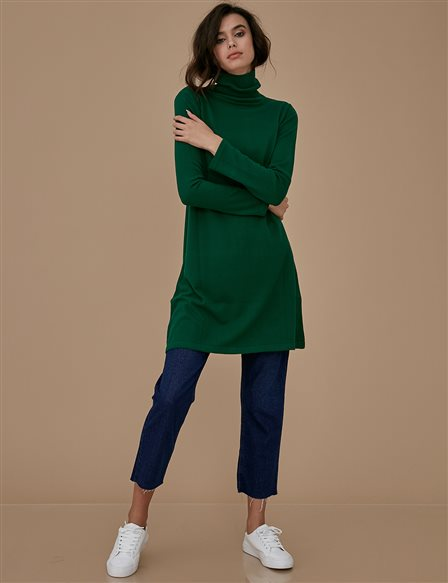 Knitwear Basic Tunic A9 TRK40 Green