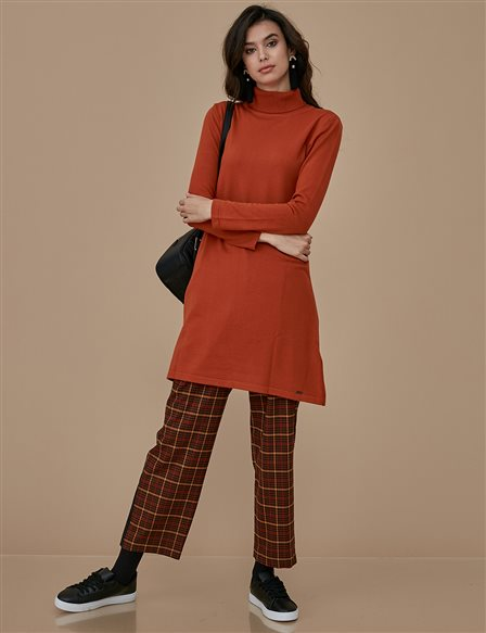 Knitwear Basic Tunic A9 TRK40 Tile