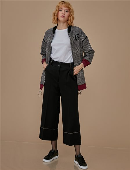 Wide Leg Pants A9 19011 Black