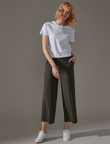 KYR Wide Leg Pants A9 79017 Green