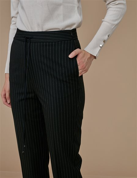 Striped Pants Black A9 19059