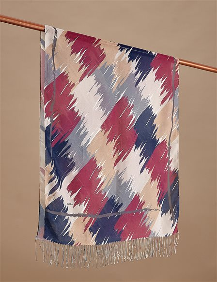 Colorful Cotton Shawl A9 SAL10 Navy