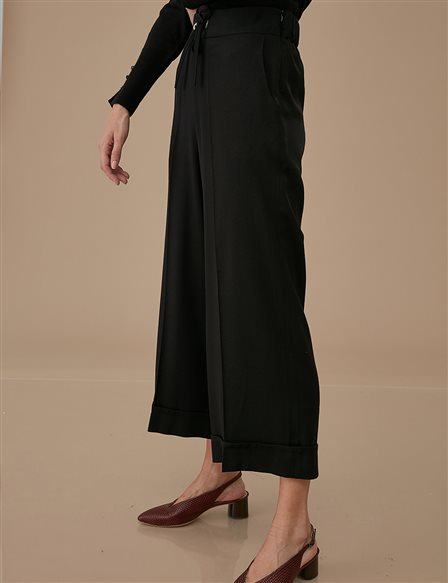 Double Leg Pants A9 19108 Black